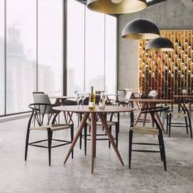 Restaurangmöbler 4 pers Rundo + Danmark