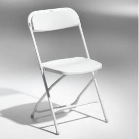 Flex Fällbar Stol - Vit med vit sits